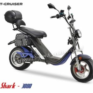 Scooter 100% électrique SHARK 3000 Homologué Bleu Bleu