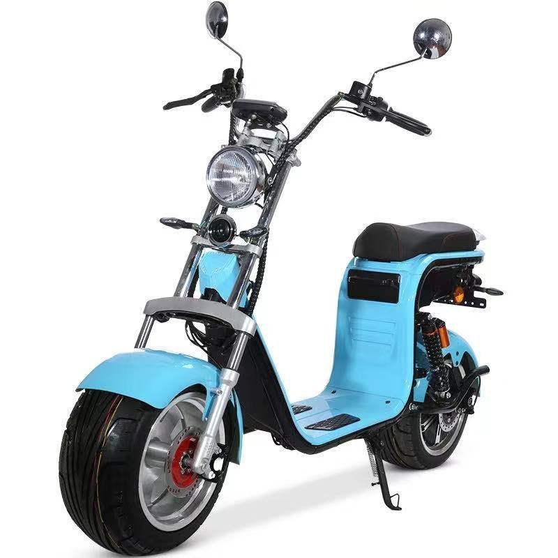 Scooter électrique STORMY couleur bleu Homologué Double Batterie 1500 WATTS